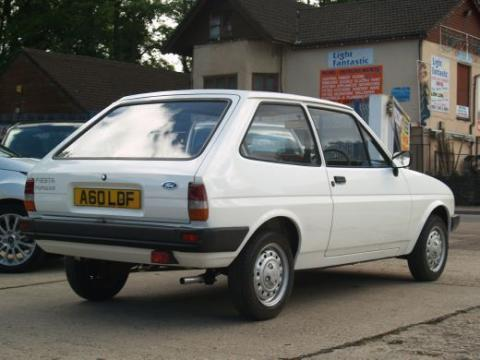 1984 Ford Fiesta MK2 957cc Popular Rear