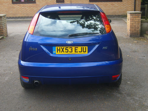 2003 Ford Focus RS MK1 Back