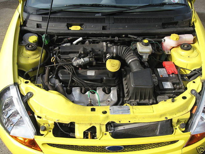 2000 ford ka millenium yellow engine bay