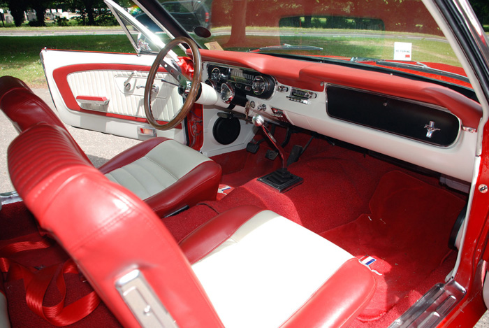 1965 Ford Mustang V8 Convertible Front Interior