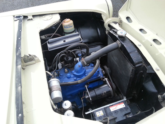 1960 ford popular 100e engine bay