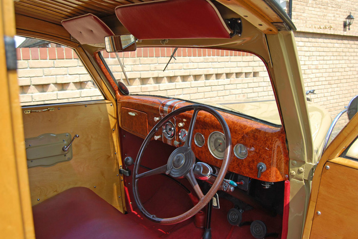 1936 Ford Woodie Station Wagon Dashboard Steering Wheel
