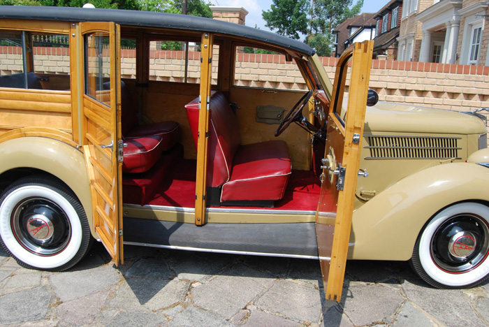 1936 Ford Woodie Station Wagon Doors Open