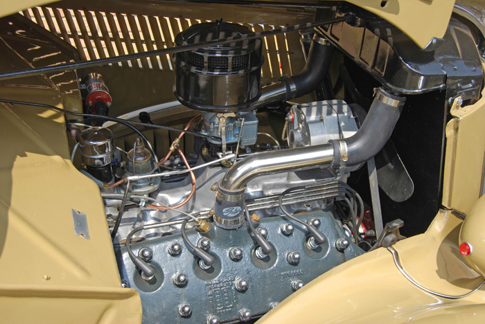 1936 Ford Woodie Station Wagon Engine Bay 1