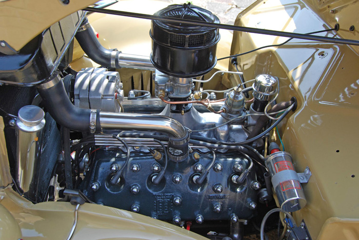 1936 Ford Woodie Station Wagon Engine Bay 2
