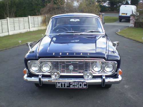 1965 ford zodiac mk3 executive front