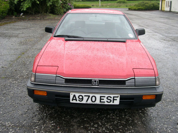 1984 honda prelude gm red front