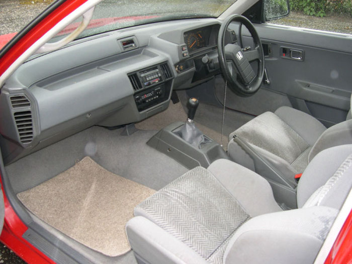 1984 honda prelude gm red interior