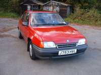 233 1991 vauxhall astra l red icon