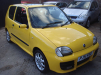 408 2001 fiat seicento 1.1 michael schumacher sporting bright yellow icon