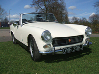 41 austin healey sprite white icon