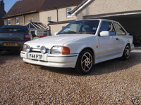 45 1989 ford escort rs turbo white icon