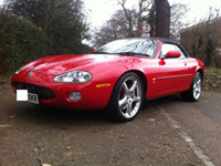 543 2003 jaguar xkr auto red 4.2 premium supercharged 400 bhp icon
