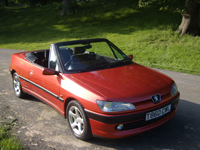 591 1999 peugeot 306 cabriolet convertible 2.0 icon