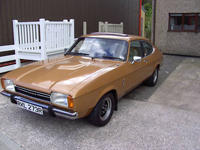 86 1976 ford capri ii ghia auto gold manual icon