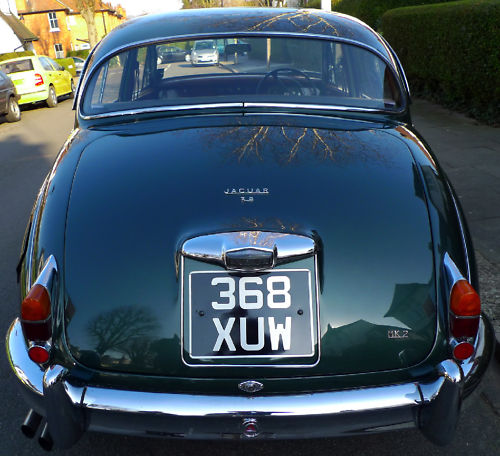 1961 jaguar mk ii 3.8 litre manual back
