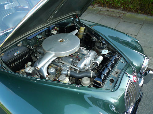 1961 jaguar mk ii 3.8 litre manual engine bay
