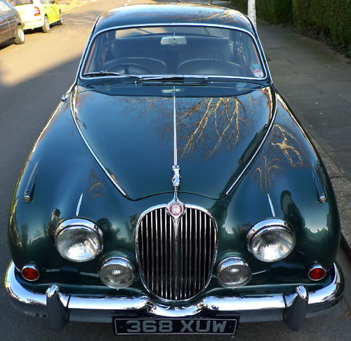 1961 jaguar mk ii 3.8 litre manual front