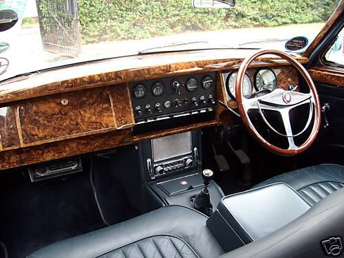 1961 Jaguar MK2 3.4 Interior Dashboard Steering Wheel