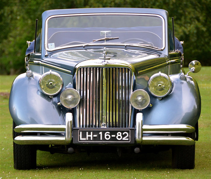 1950 jaguar mark v 3.5 litre front