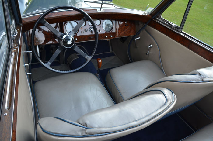 1950 jaguar mark v 3.5 litre interior