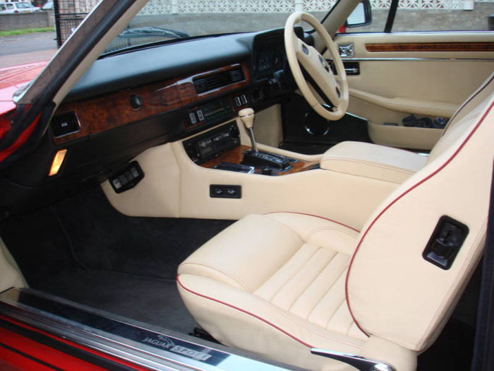 1989 jaguar jaguarsport xjr-s auto red interior 1