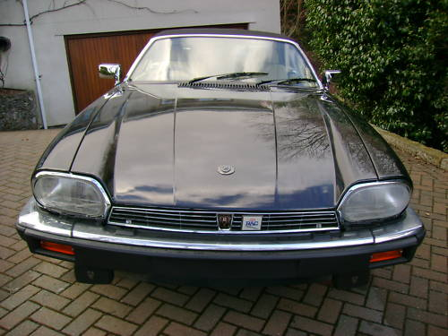 jaguar xjs v12 auto convertible in black ivory leather 2