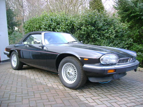 jaguar xjs v12 auto convertible in black ivory leather 3