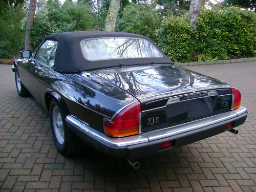 jaguar xjs v12 auto convertible in black ivory leather 5