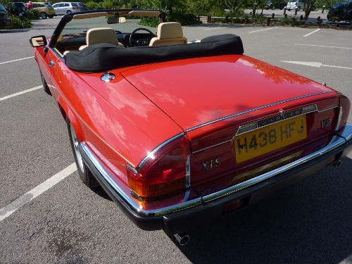 1991 jaguar xjs v12 convertible back