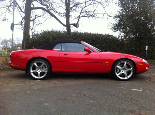 2003 jaguar xkr auto red 4.2 premium supercharged 400 bhp 4