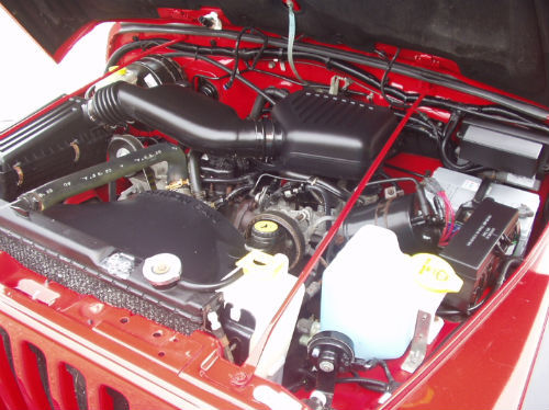 1997 jeep wrangler 2.5 sport convertible engine bay