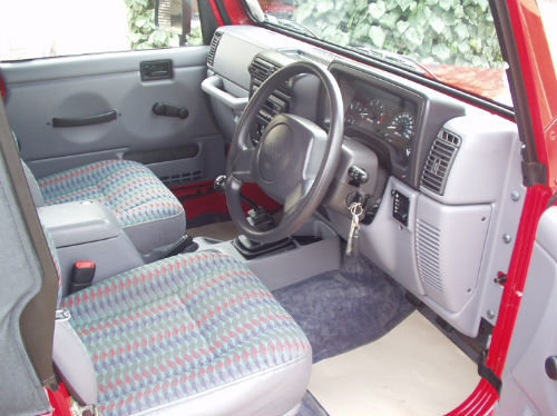 1997 jeep wrangler 2.5 sport convertible interior 1