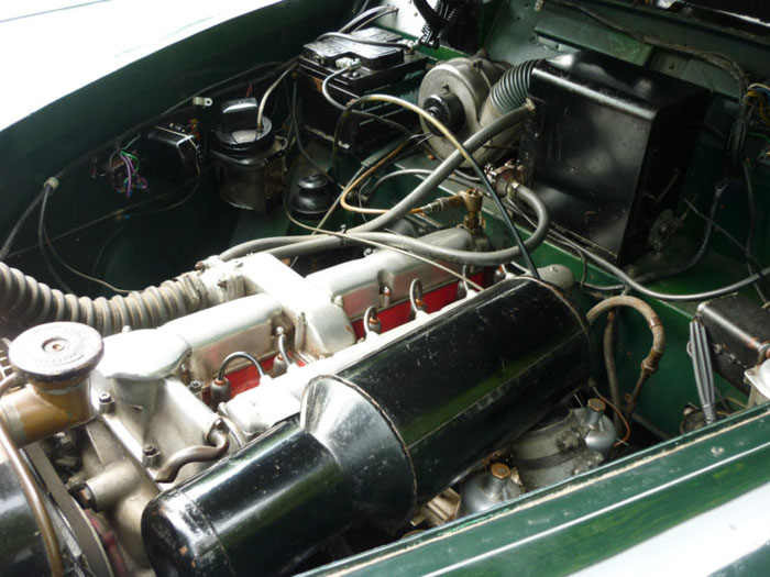 1954 lagonda db 3 litre fixed head coupe by tickford engine bay