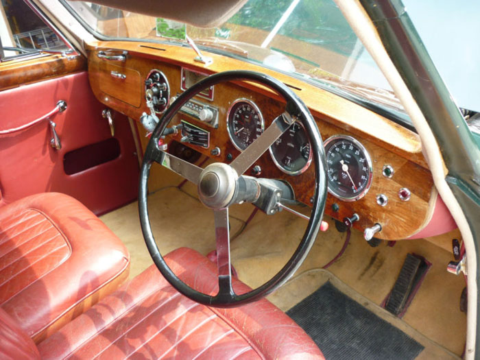 1954 lagonda db 3 litre fixed head coupe by tickford interior