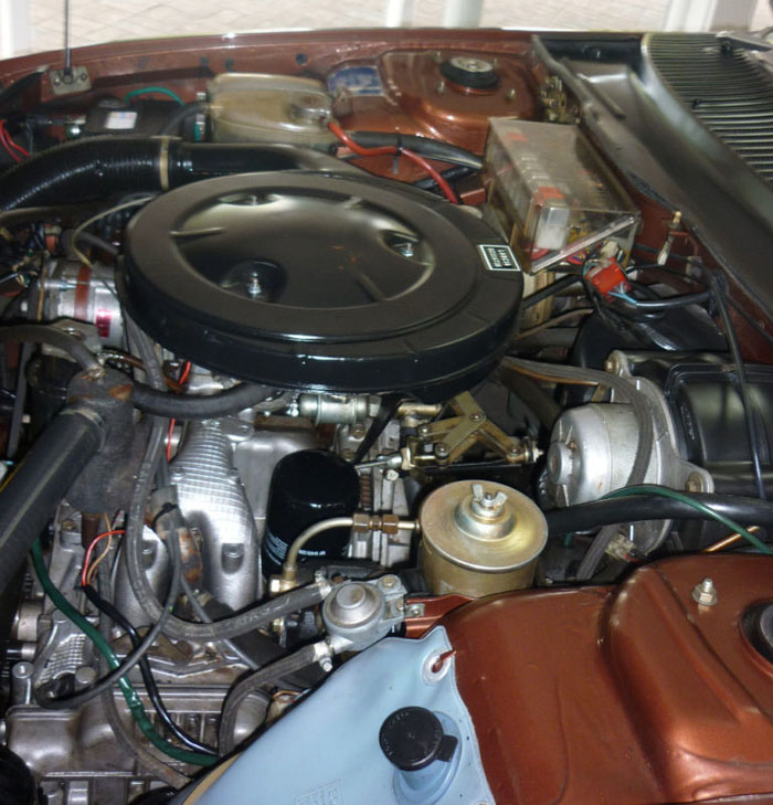 1978 lancia gamma coupe engine bay