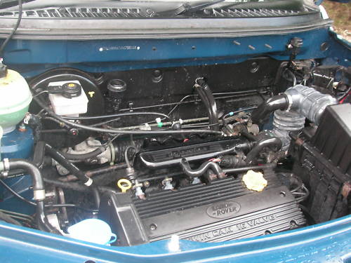 1999 land rover freelander xei 1.8l blue engine bay