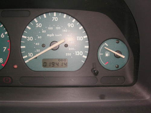 1999 land rover freelander xei 1.8l blue speedometer