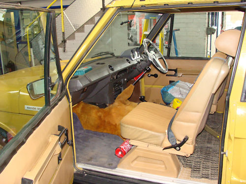 1979 range rover gold interior 1