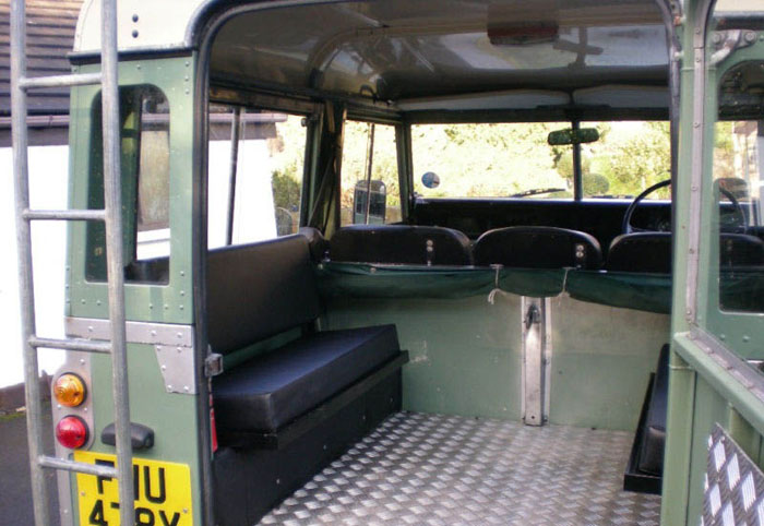 1983 land rover series 3 88 station wagon swb interior 2