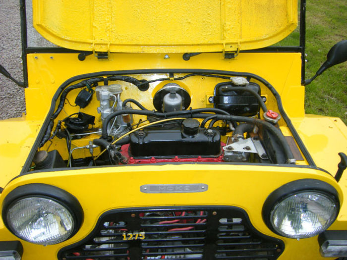 1980 leyland mini moke rare 1275cc rhd engine bay