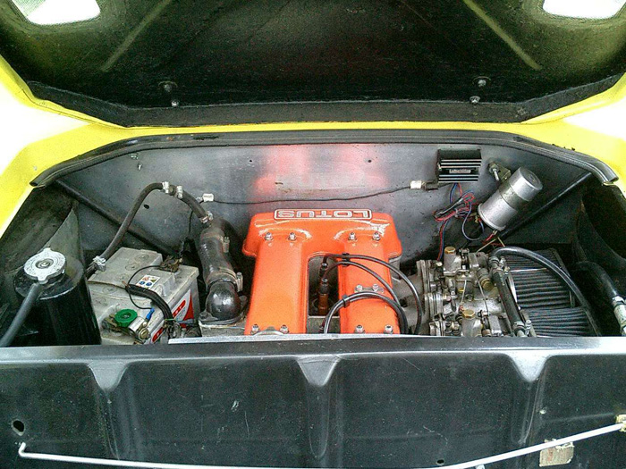 1971 Lotus Europa Twin Cam Engine Bay