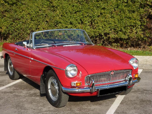 1965 mgb roadster rare pull handle model unleaded head 1