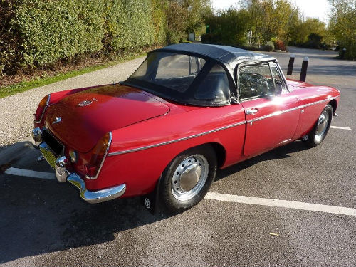 1965 mgb roadster rare pull handle model unleaded head 4