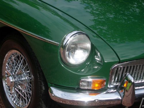 1969 MGB GT Front Light