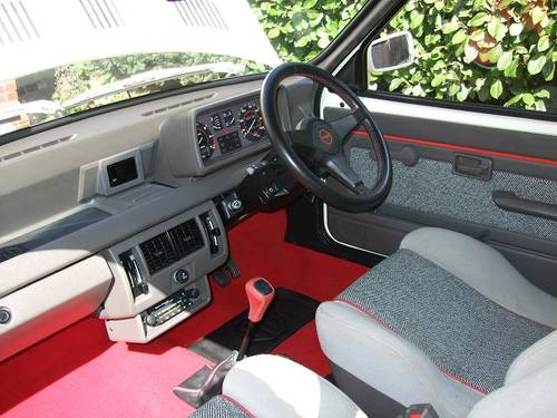 1984 MG Metro MK1 Turbo Interior