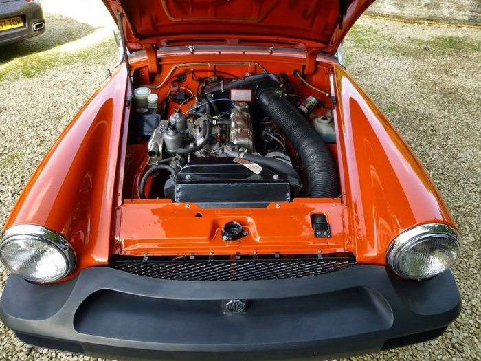 1981 MG Midget 1500 Engine Bay 1