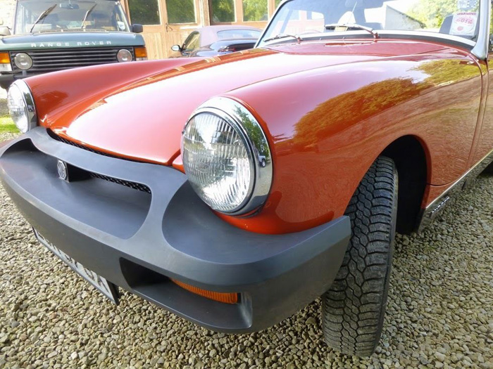 1981 MG Midget 1500 Front Closeup