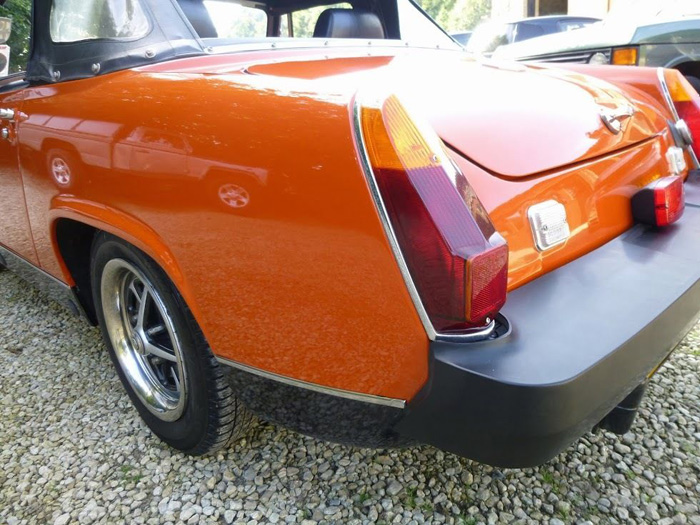 1981 MG Midget 1500 Rear Closeup