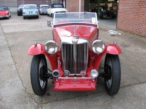 1937 mg ta 2 seater sports front